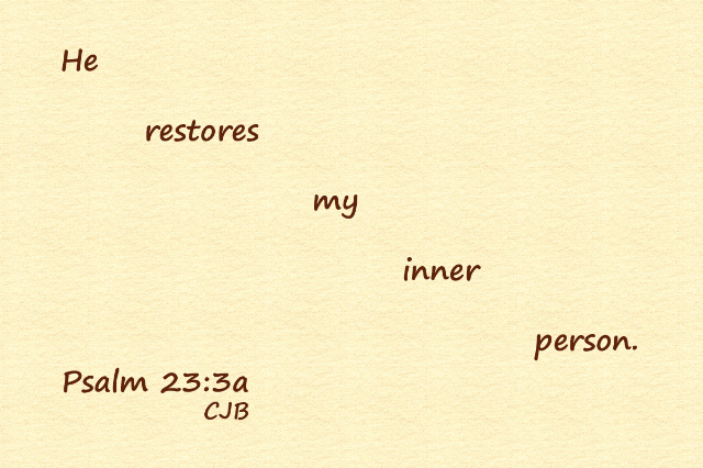 Psalm 23-3a