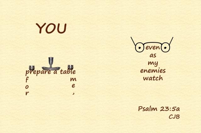 Psalm 23-5a