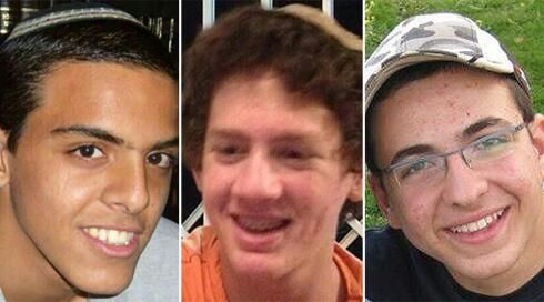 Three kidnapped Israeli teens, from L-R: Eyal Yifrach, 19, Naftali Frenkel, 16, and Gil-ad Shaar, 16. (photo credit: Times of Israel)