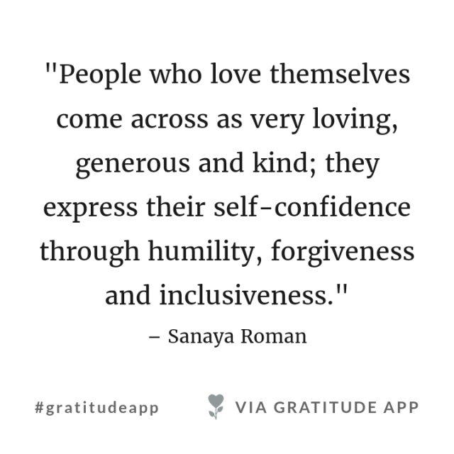 people who love themselves quote